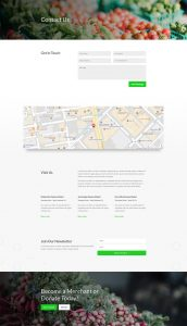 Farmers Market Layout Pack - Contact Page