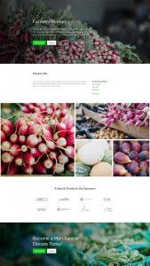 Farmers Market Layout Pack - Home Page