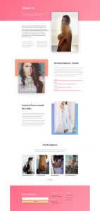 Fashion Layout Pack - About Page