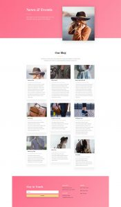 Fashion Layout Pack - Blog Page