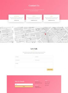 Fashion Layout Pack - Contact Page