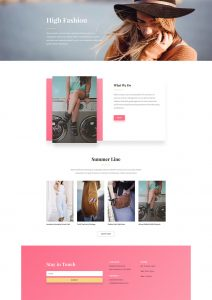 Fashion Layout Pack - Home Page