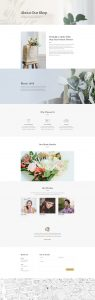 Florist Layout Pack - About Page