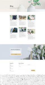 Florist Layout Pack - Blog Page