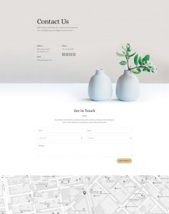 Florist Layout Pack - Contact Page