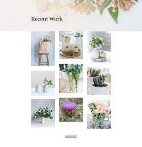 Florist Layout Pack - Gallery Page