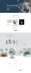 Florist Layout Pack - Home Page