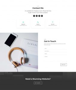 Freelance Web Layout Pack - Contact Page