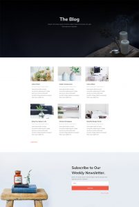 Interior Design Layout Pack - Blog Page