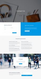 Photo Marketplace Layout Pack - Contact Page