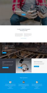 Photo Marketplace Layout Pack - Contributer Page
