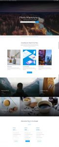 Photo Marketplace Layout Pack - Home Page