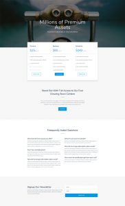 Photo Marketplace Layout Pack - Pricing Page