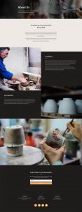 Pottery Studio Layout Pack - About Page