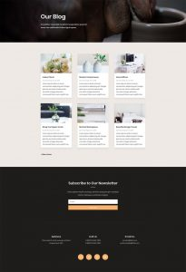 Pottery Studio Layout Pack - Blog Page