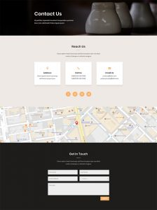 Pottery Studio Layout Pack - Contact Page