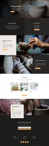 Pottery Studio Layout Pack - Landing Page