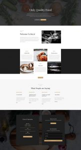 Restaurant Layout Pack - Home Page