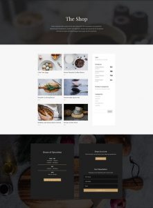 Restaurant Layout Pack - Shop Page