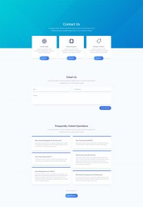 SaaS Layout Pack - Contact Page