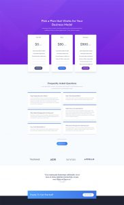 SaaS Layout Pack - Pricing Page