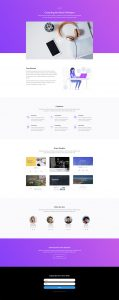 Software Marketing Layout Pack - About Page
