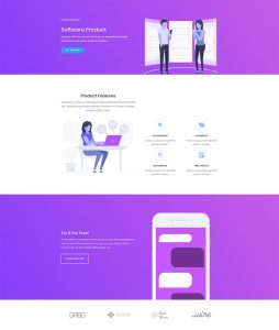 Software Marketing Layout Pack - Home Page