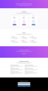 Software Marketing Layout Pack - Pricing Page