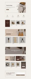Online Store Layout Pack - Landing Page
