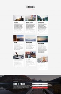 Travel Layout Pack - Blog Page