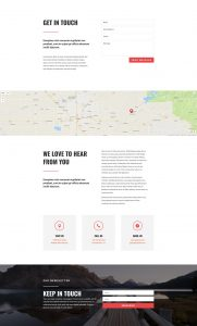 Travel Layout Pack - Contact Page
