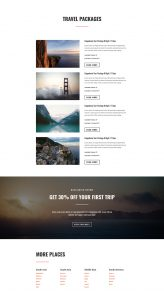 Travel Layout Pack - Packages Page