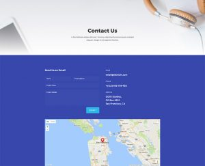 Web Agency Layout Pack - Contact Page