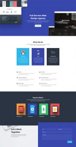Web Agency Layout Pack - Home Page