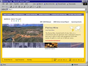 Web Design Barrick Gold Mines