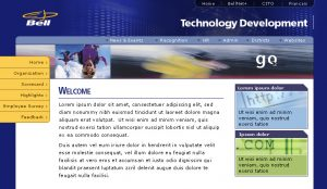 Web Design Bell Intranet Home